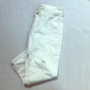 OLD NAVY Sweetheart White Denim Cropped Jeans 8